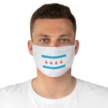 Load image into Gallery viewer, School of Rock Chicago West Flag - White Fabric Face Mask