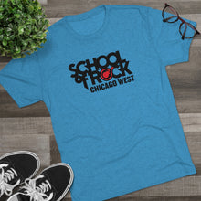 Load image into Gallery viewer, School of Rock Chicago West - Men's Tri-Blend Crew Tee