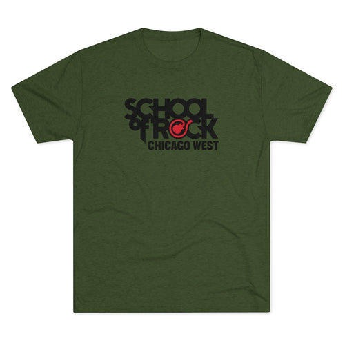School of Rock Chicago West - Men's Tri-Blend Crew Tee