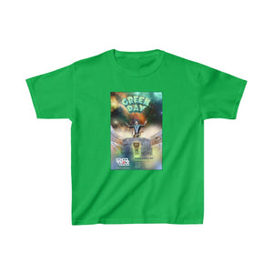 Green Day Show 2020 w/ Guitar Swirl (double sided) - includes all participating musician's names - Kids Heavy Cotton Tee