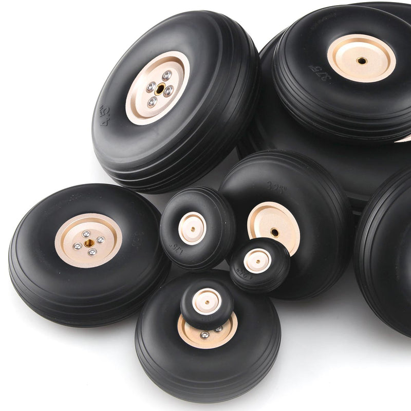 Gold Aluminum Alloy Hub Wheel for RC Airplane