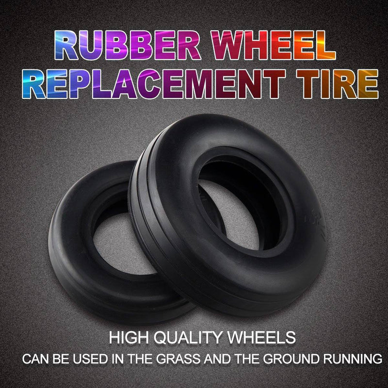 1 Pair 1.75~4.5inch Rubber Wheel Replacement Tire for RC Airplane