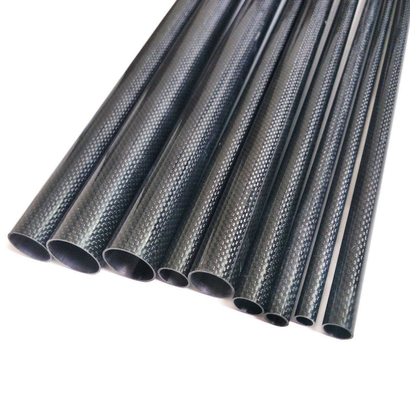1pcs 3K Carbon Fiber Tube 8*10*500mm Glossy Surface Length 500mm Black