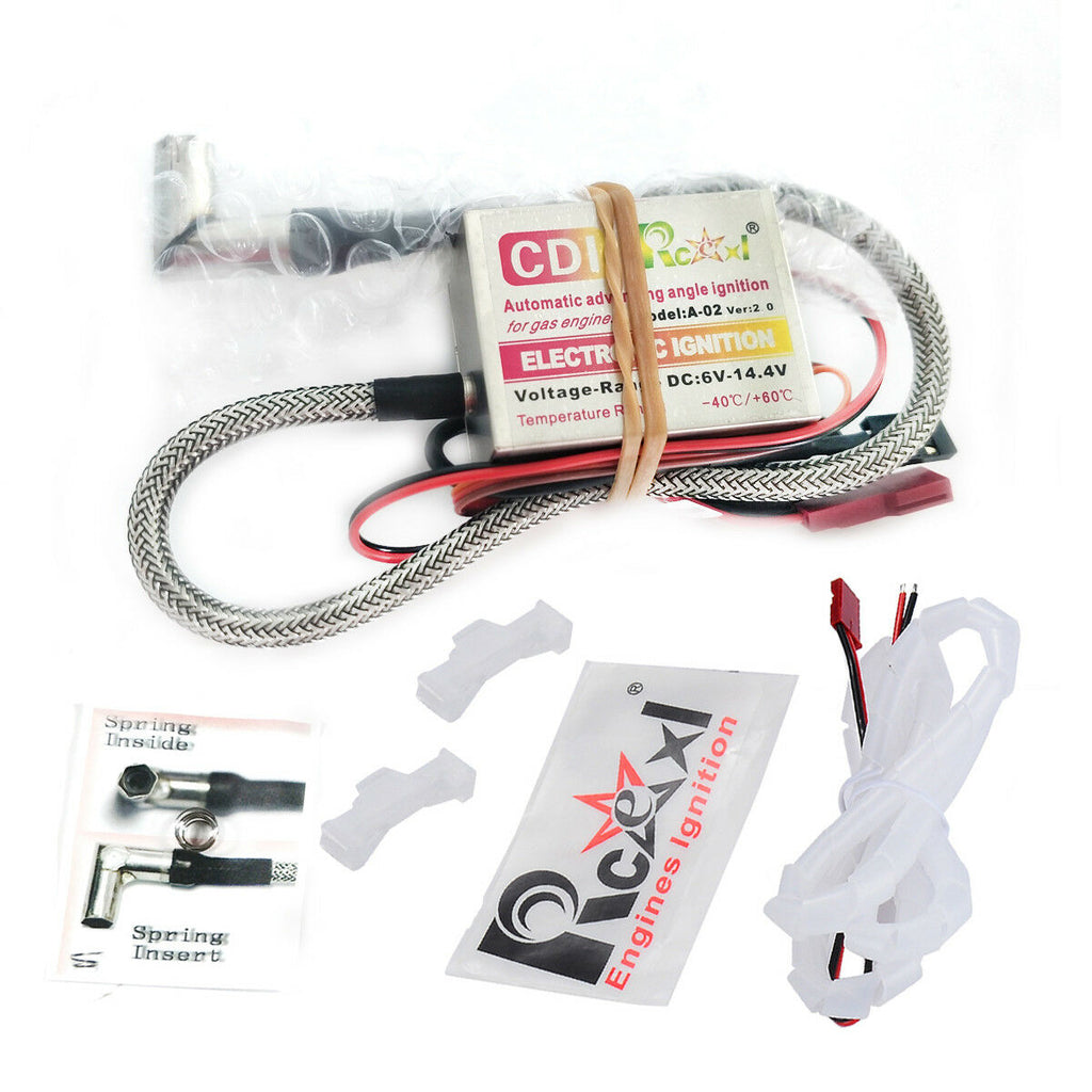 Rcexl Automatic Single Ignition for NGK ME8 1/4-32 90 Degree + Universal Sensor