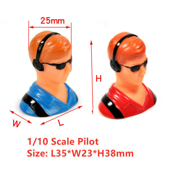 Miracle 1/10 Pilot Figure with Headset Glass