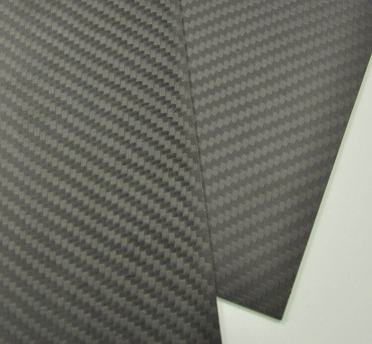 250mmx250mmx2mm  Carbon Fiber Plate/Panel/Sheet  Matte Surface 2mm thickness