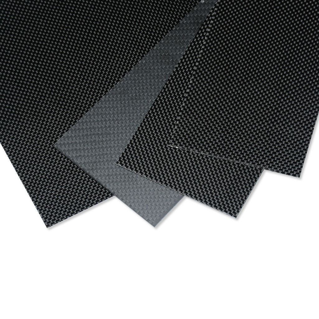 4PCS 100mm*500mmx0.3mm  Carbon Fiber Plate/Panel/Sheet 3K plain Weave Glossy