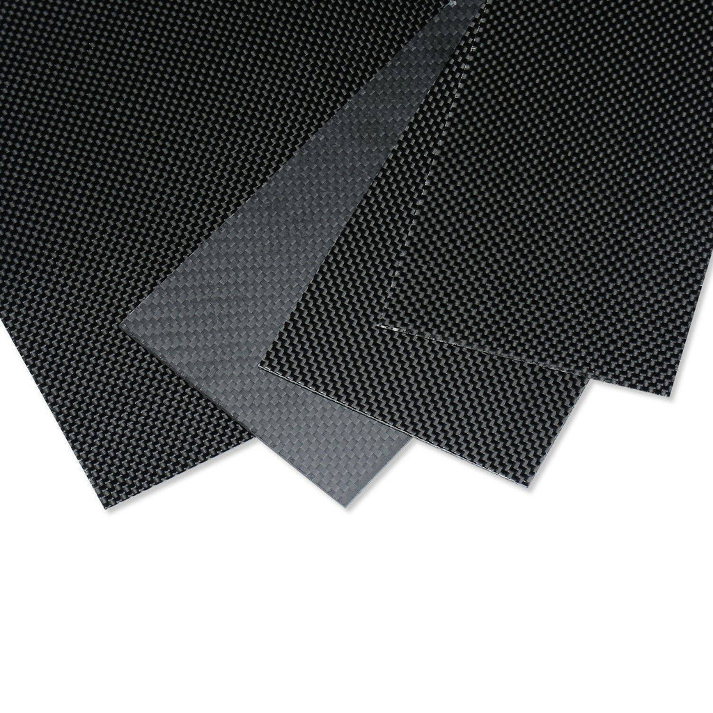 200x500x1mm Carbon Fiber Plate/Panel/Sheet 3K Plain Weave High Glossy 1mm Thick