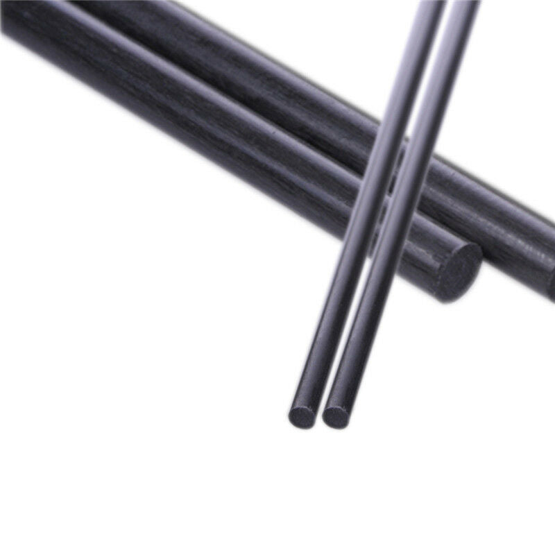 5pcs 4mm Diameter 500mm Length Carbon Fiber Rods Matte Surface