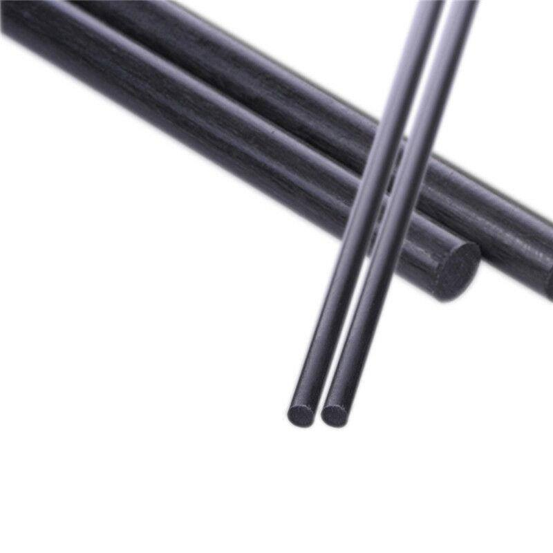 10pcs 1.5mm Diameter 500mm Length Matte Surface Carbon Fiber Rods