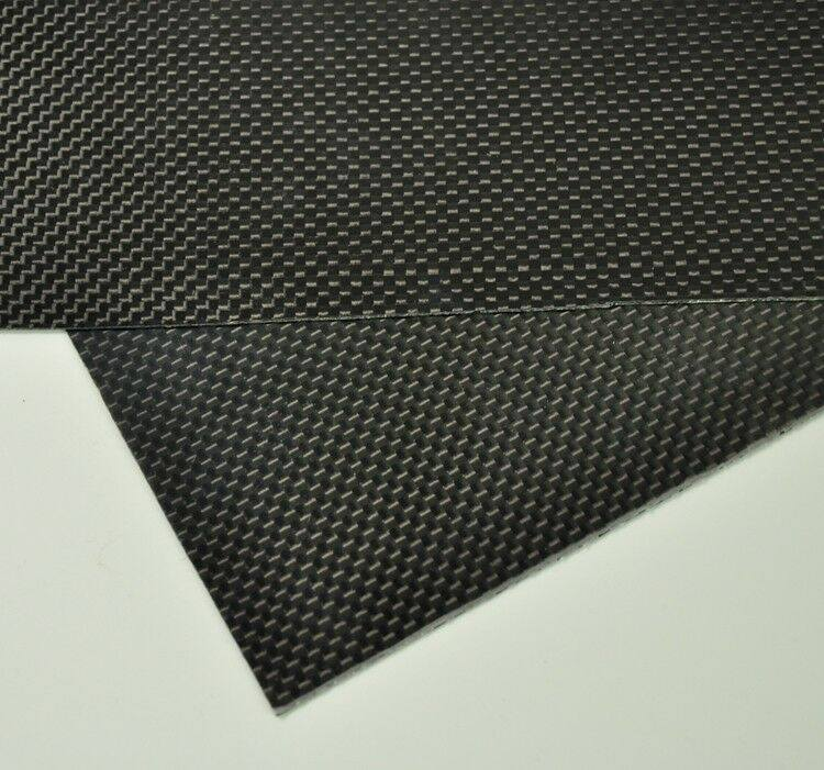100mmx250mmx1mm  3K Carbon Fiber Plate/Panel/Sheet  plain Weave Glossy