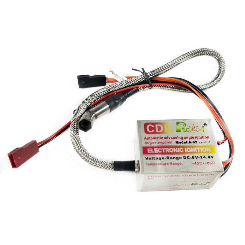 Rcexl Automatic Single Ignition CDI for NGK ME8 1/4-32 120 Degree + Hall Sensor