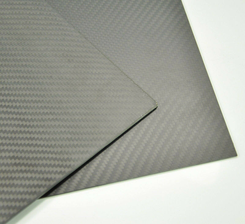 100mmx400mmx2mm Carbon Fiber Plate/Panel/Sheet Matte Surface 2mm Thickness