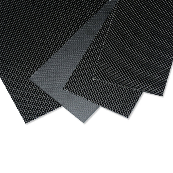 250mmx500mmx1mm Carbon Fiber Plate/Panel/Sheet 3K Plain Weave High Glossy 1mm TK