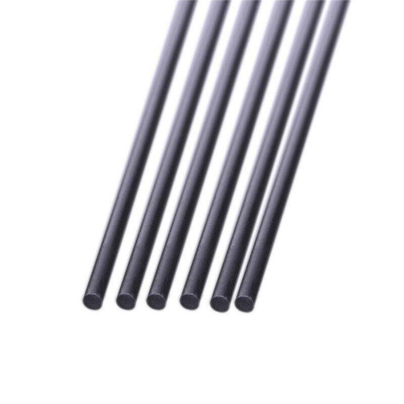10pcs 4.5mm Diameter 500mm Length Matte Surface Carbon Fiber Rods