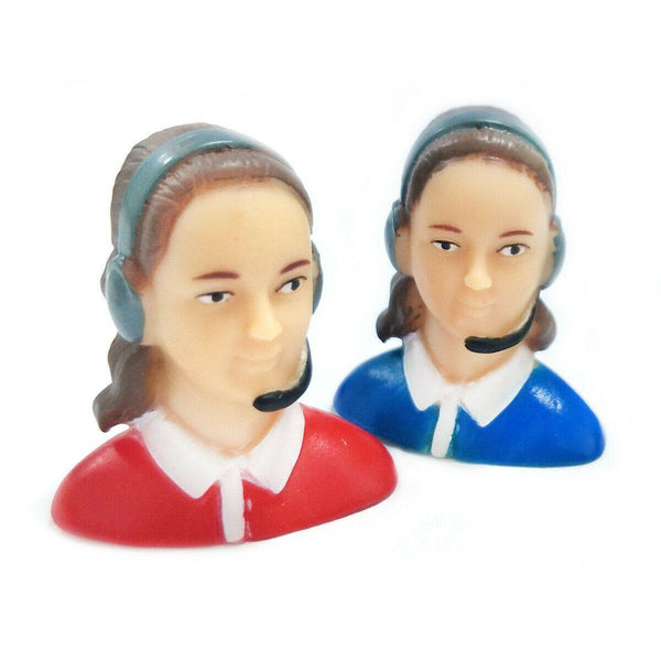 1/9 Scale Female Pilots Figures L35*W25*H39mm