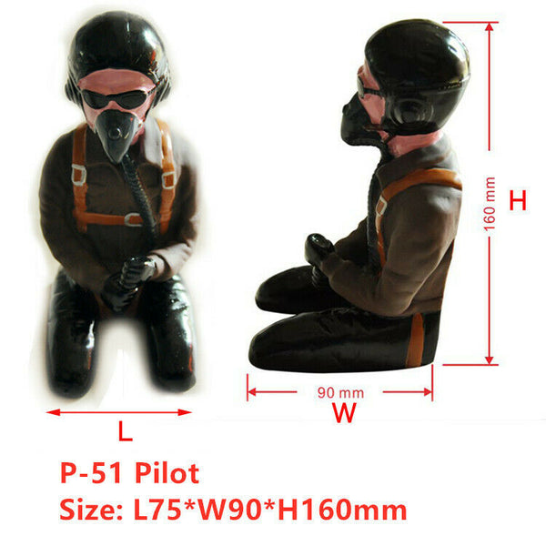 P-51 Pilot Figure w/ Headset Glass L75*W90*H160mm