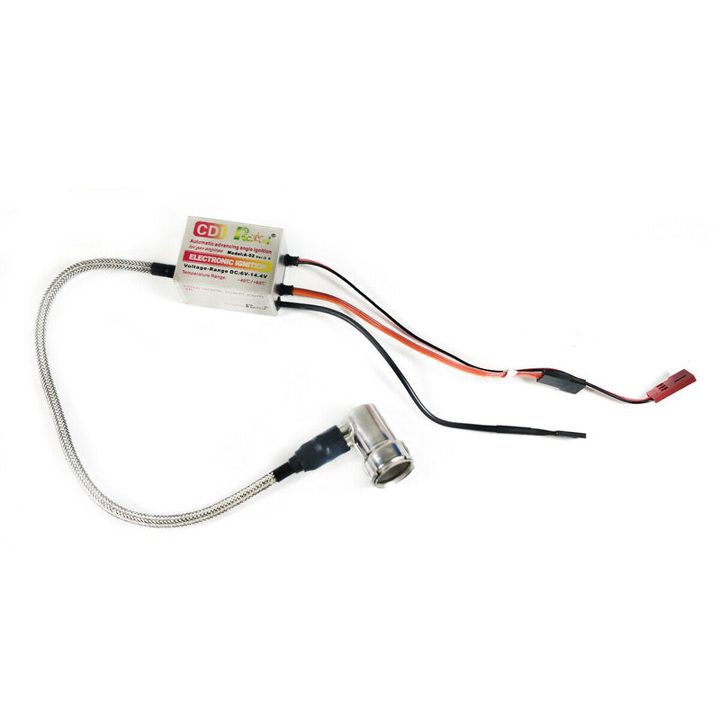 Rcexl Electronic Single Ignition for NGK-BMR6A-14mm 90 Degree + Universal Sensor