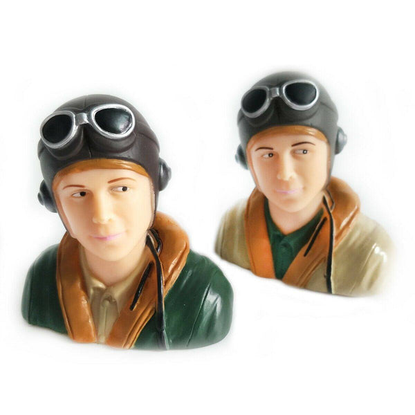 1/9 Scale WWII Pilots Figure L44*W23*H40mm Brown / Army Green