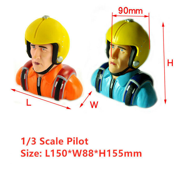 Miracle 1/3 Scale WW-II Pilot Figures Statues For RC Model Plane L150*W88*H155mm