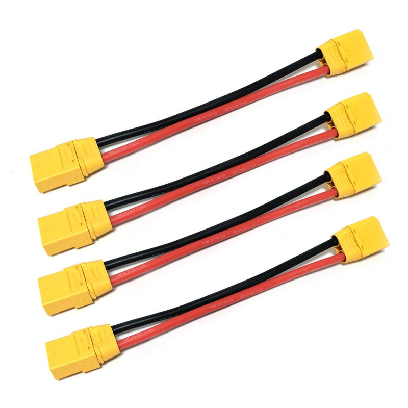 High Quality XT90 12AWG Male Female Extension Cable Battery Connector Soft Silicon Wire 150mm 300mm 450mm For RC Model