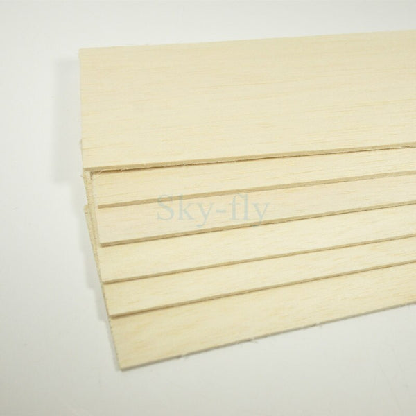 5PCS AAA+ Balsa Wood Sheet 3mm Thickness 460*80mm 600*100mm Super Quality For airplane/boat DIY