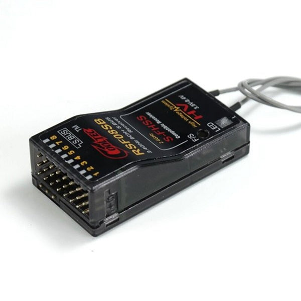 RSF08SB 2.4G 8CH Receiver Compatible With Futaba 10J 8J 6K 6J 10J 14sg 18MZ WC 18SZ S-FHSS w/ S.BUS PMW Output