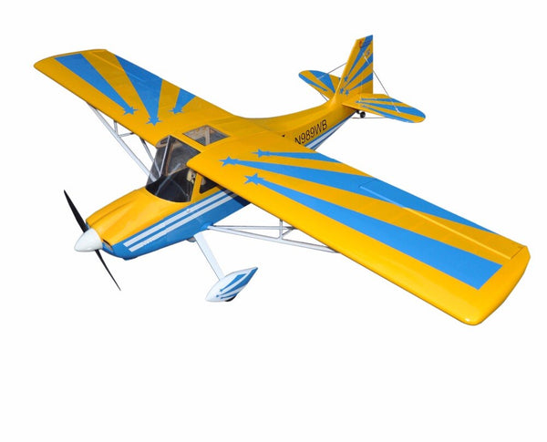 "Yellow Decathlon 72"" Glow & Electric model Plane 4 Channels ARF RC Balsa Wood Airplane"