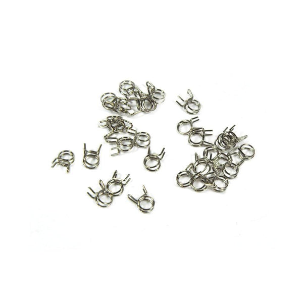 10pcs Fuel Line Oil Air Tube Clamp Hose Spring Clip Fastener 6mm Fuel Connector For RC Fuel Model Accessories