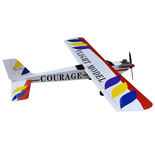 "Flight Courage-10 59.4"" Nitro Trainer RC Airplane Balsa Wood  ARF 4CH Model"