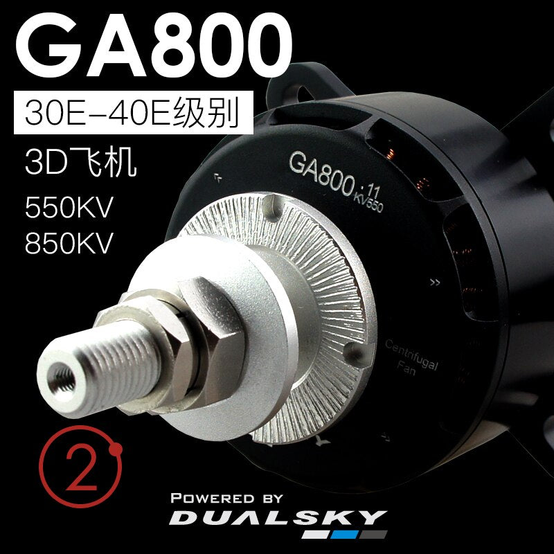 DUALSKY GA800 V2 High-power Brushless Motor For Class 30E-40E RC Fix Wing Airplane