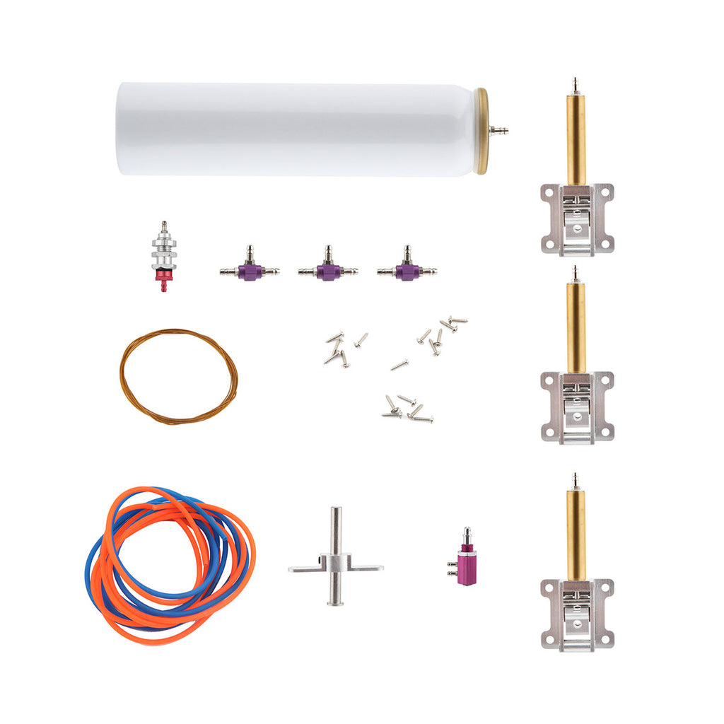 Air Retracts Kit Gears(φ2.5) Pressure tank For Class 15 Airplane L66xW29xH12 mm