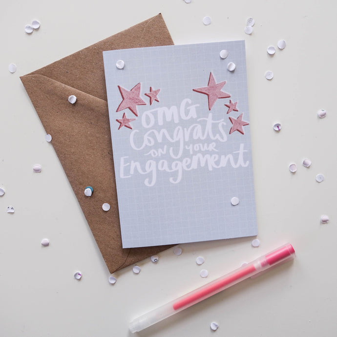 Congrats On Your Engagement Card - Victoria Rose Ball