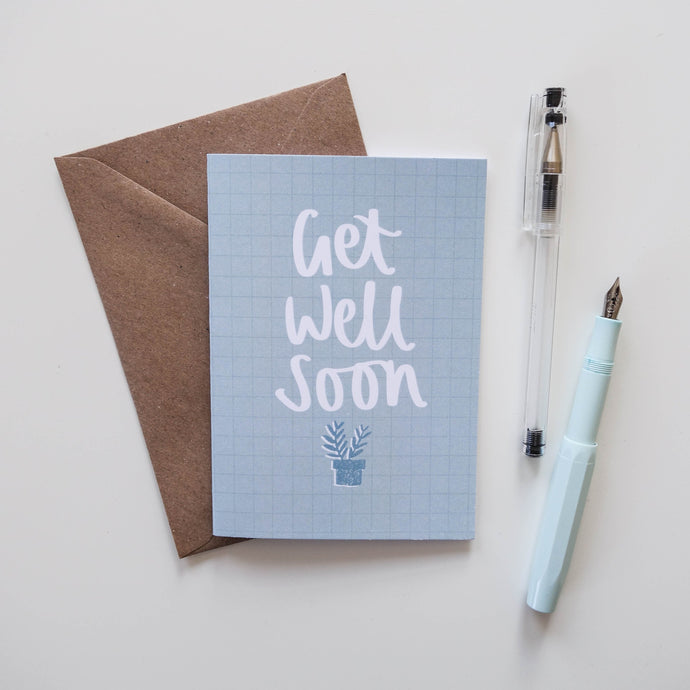 Get Well Soon Card - Victoria Rose Ball