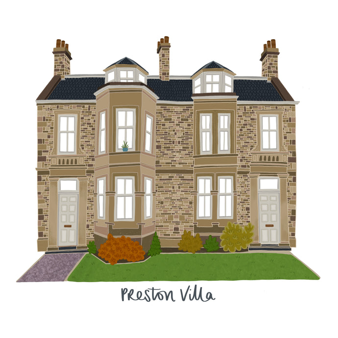 Bespoke House Portrait - Victoria Rose Ball