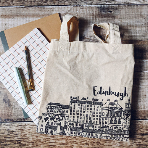 Edinburgh Skyline Tote Bag - Victoria Rose Ball