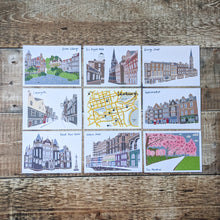 Load image into Gallery viewer, Edinburgh Streets Postcard Set - Victoria Rose Ball