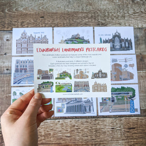 Edinburgh Landmarks Postcard Set - Victoria Rose Ball
