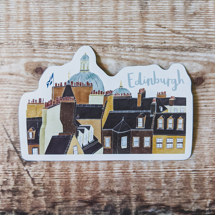 Edinburgh Skyline Magnet - Victoria Rose Ball