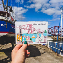 Load image into Gallery viewer, South Queensferry Postcard - Victoria Rose Ball