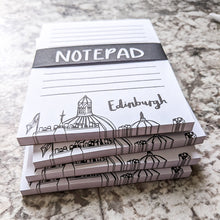 Load image into Gallery viewer, Edinburgh Skyline Notepad and Pen Set - Victoria Rose Ball