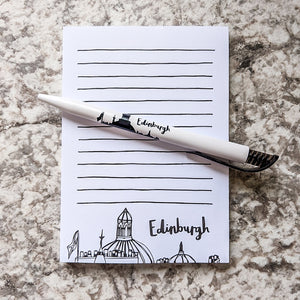 Edinburgh Skyline Notepad and Pen Set - Victoria Rose Ball