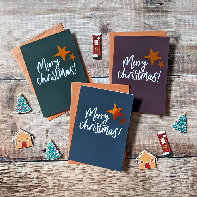 Set of 3 Foil Christmas Cards - Victoria Rose Ball