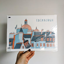 Load image into Gallery viewer, SALE Skyline in colour A4 print - Victoria Rose Ball