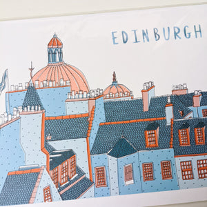 SALE Skyline in colour A4 print - Victoria Rose Ball