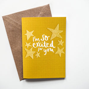 I'm So Excited For You Card - Victoria Rose Ball