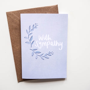 With Sympathy Card - Victoria Rose Ball