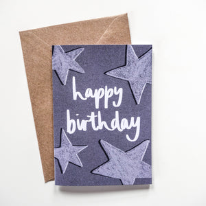 Happy Birthday Stars Card - Victoria Rose Ball