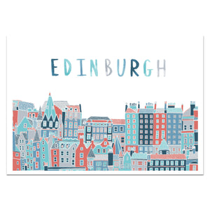 Edinburgh Cityscape Print - Victoria Rose Ball