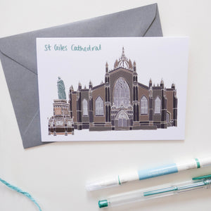 St Giles Cathedral Edinburgh Card - Victoria Rose Ball